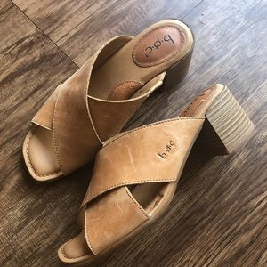 Boc super chic block heels sandals slip on